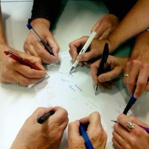 schrijvende handen ZH docenten